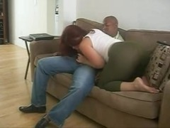 Redhead wife engulf a BBC like a pro