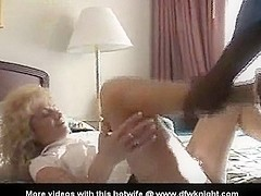 Filmed older wife acquires darksome creampie and facial