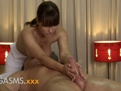 Orgasms HD Hawt massage from cute breasty brunette hair woman