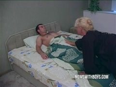 Hot Horny Mama Wakes StepSon With A Blowjob