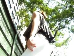 An awesome upskirt voyeur shot