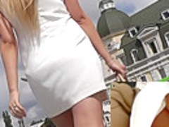 Public accidental upskirt pics with athletic ass