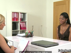 Ebony gal fucking hot casting agent