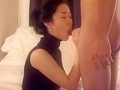 Asian wife blowjob and fuck part 1