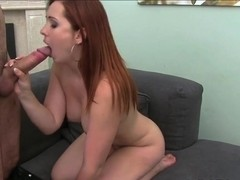 Love Creampie Naughty redhead in hardcore casting video