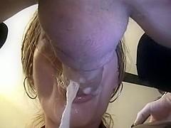 Sucking Jimmy's pecker like crazy