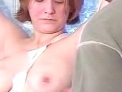 Busty blonde gets clamps on her boobs