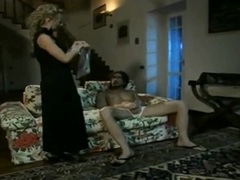 Elegant Dora Venter Anal With Foot Finish In Black Stockings