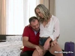 Blonde Hottie Vienna Devours Massive Cock