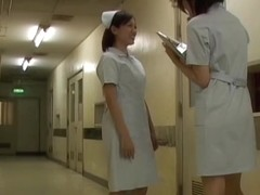 Nasty public sharking video with Asian nurse's panties shown