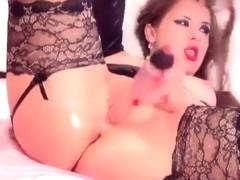 Missquirt fucks herself with dildo