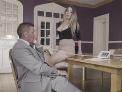 Incredible blonde secretary Tamara Grace gets fucked hard
