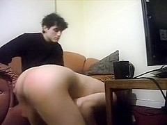 Slave gets a spanking
