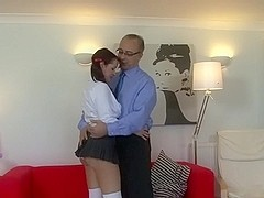 Old man and a naughty milf