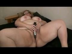 My Horny Fat BBW Chunky Ex GF masturbating her shaven Pussy