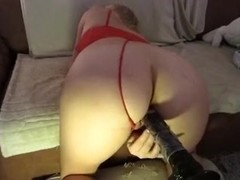 Large booty screwed BBC sex toy
