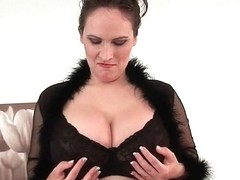 Can I cum on your big tits mommy?