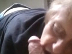 grandma cock juice in throat oral