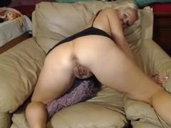 Nasty 47 year old slut teasing on webcam, part 5