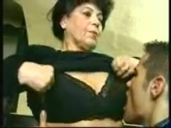 Granny does her first porn
