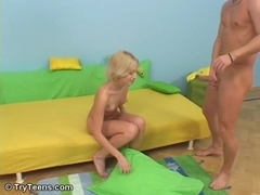 Tall blonde hotty rides the baloney pony