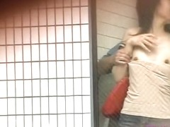 Kinky public sharking encounter with some extremely stunning Asian hottie