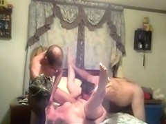 His friend is fucking his naughty wife