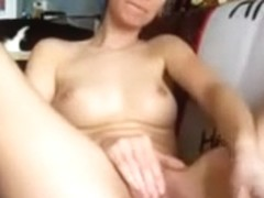 Slim dilettante masturbates and squirts
