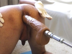 Huge Dildo with Fucking Machine