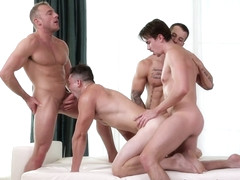 Quentin Gainz & Johnny Riley & Jack Hunter & Jacob Durham in Meet The Fuck Buddies - NextDoorBuddi.