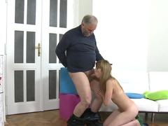 Fabulous pornstar in Amazing College, Oldie sex scene