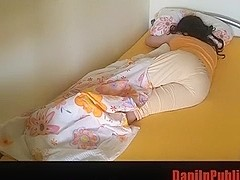 Crossdresser dreams and wets her bed