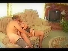HOT OLD BALD MAN W BIG COCK N WIFE