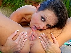 Amy Fisher,Shyla Stylez in Amy Fisher And Shyla Stylez Eat Each Others Juicy Pussies