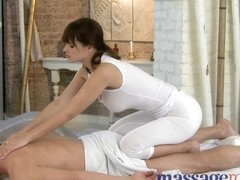 Massage Rooms Large natural mounds and diminutive hands satisfy