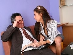 TrickyOldTeacher - Student desires teacher and he tricks her with blowjob and fucking
