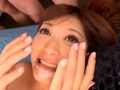 Surprise bukkake for Haruki