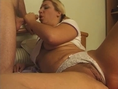 Sweet wild French blonde slut enjoys hot anal sex